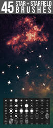 45 Star + Starfield Brushes by pushaloo