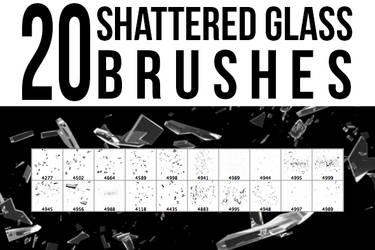20 Shattered Glass Brushes by pushaloo
