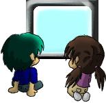 Anime-watching Chibis by midori-no-ink