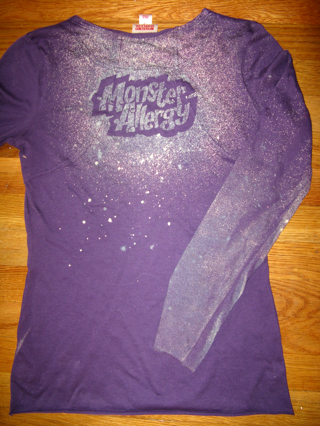 Monster Allergy Shirt - Back by midori-no-ink