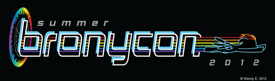 BronyCon June 2012 Logo Revised by midori-no-ink on DeviantArt