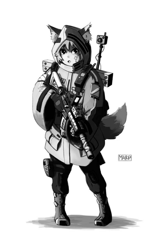 Recon Mofu Girl by Marpaparp
