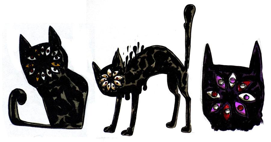 Dial-face cat