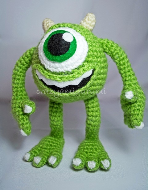Amigurumi Monsters Inc : Mike Wasowski - Monsters Inc amigurumi doll by zulemax on ...