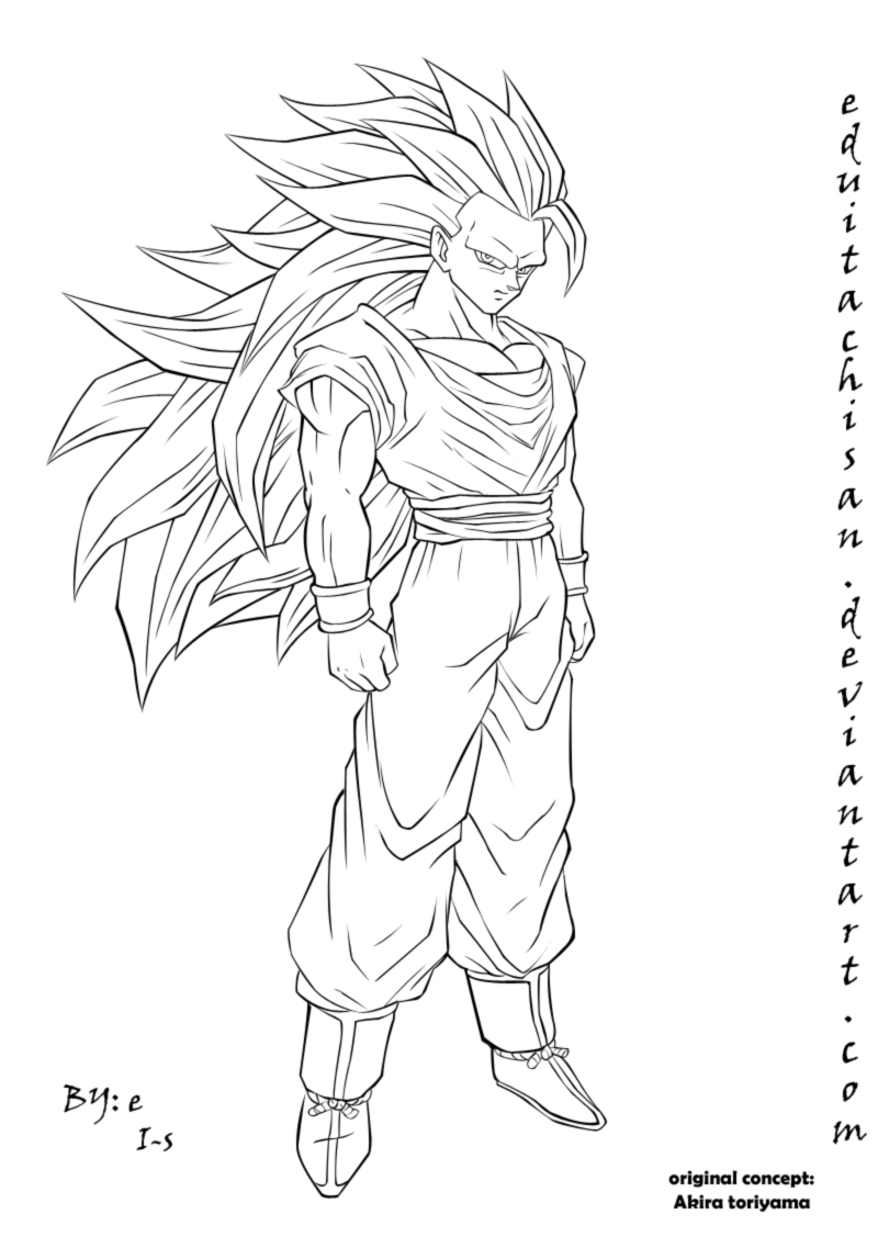 how to draw goku super saiyan full body