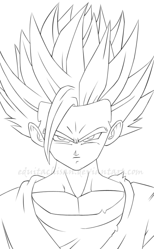 Pictures of Dragon Ball Z Para Colorear Gohan - kidskunst.info
