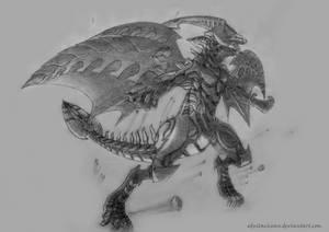 Scar-red nova dragon