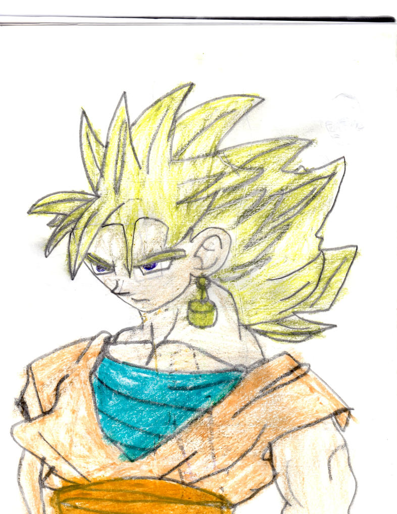 Goku SSJ2 Drawing with Color by Sonichog6 on DeviantArt