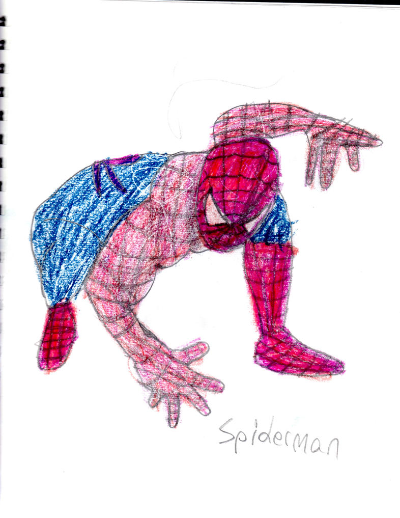 Spiderman Drawing Color Spiderman Drawing With Color