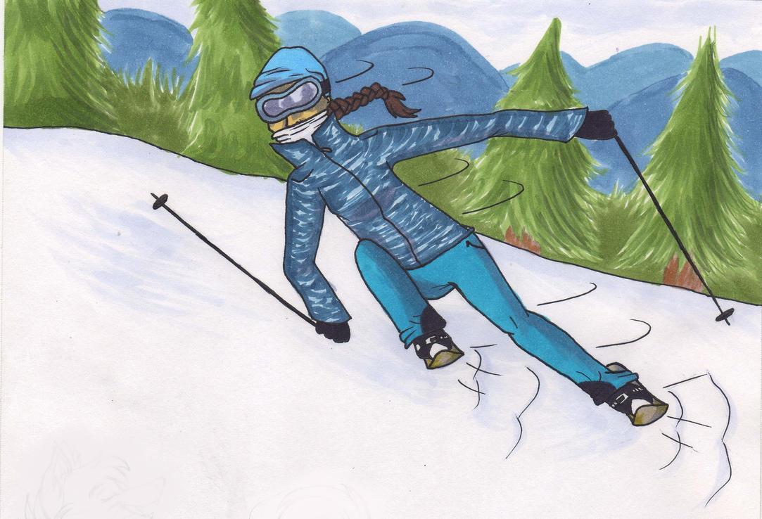 Skier by mashaheart