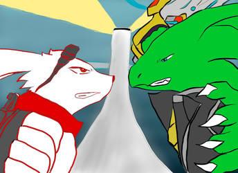 Teriax(Trae) vs. Kazma (colored) by teriax