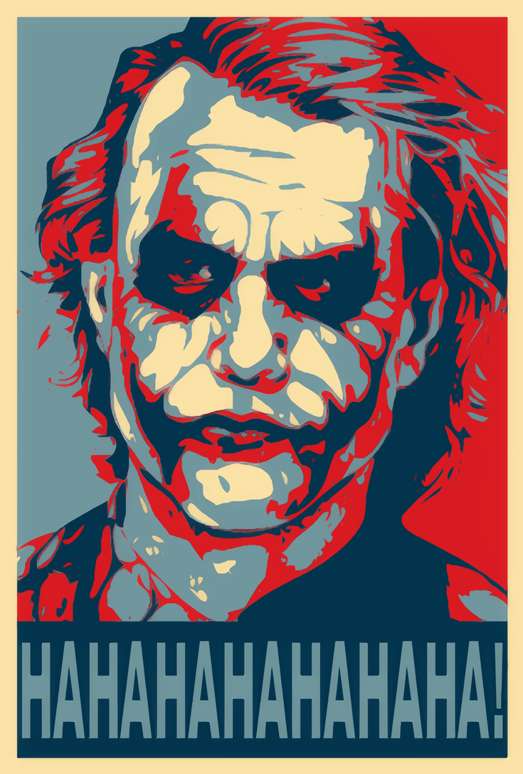 The Joker Shepard Fairey Style by WCFOmen