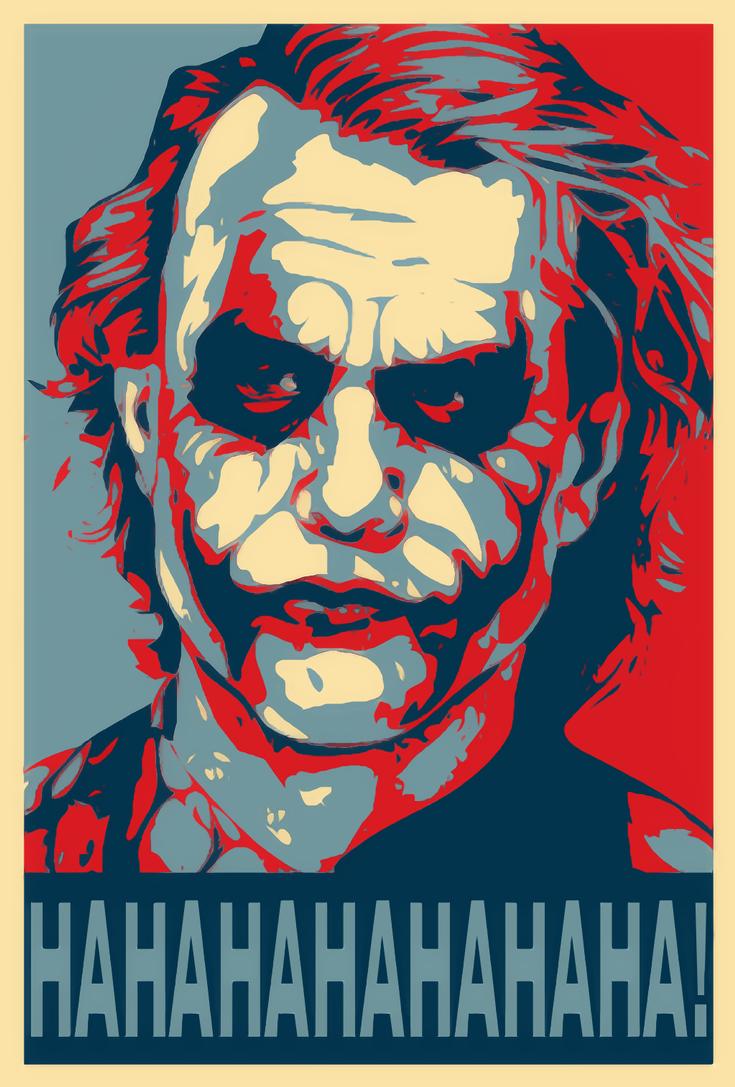 The Joker Shepard Fairey Style by WCFOmen