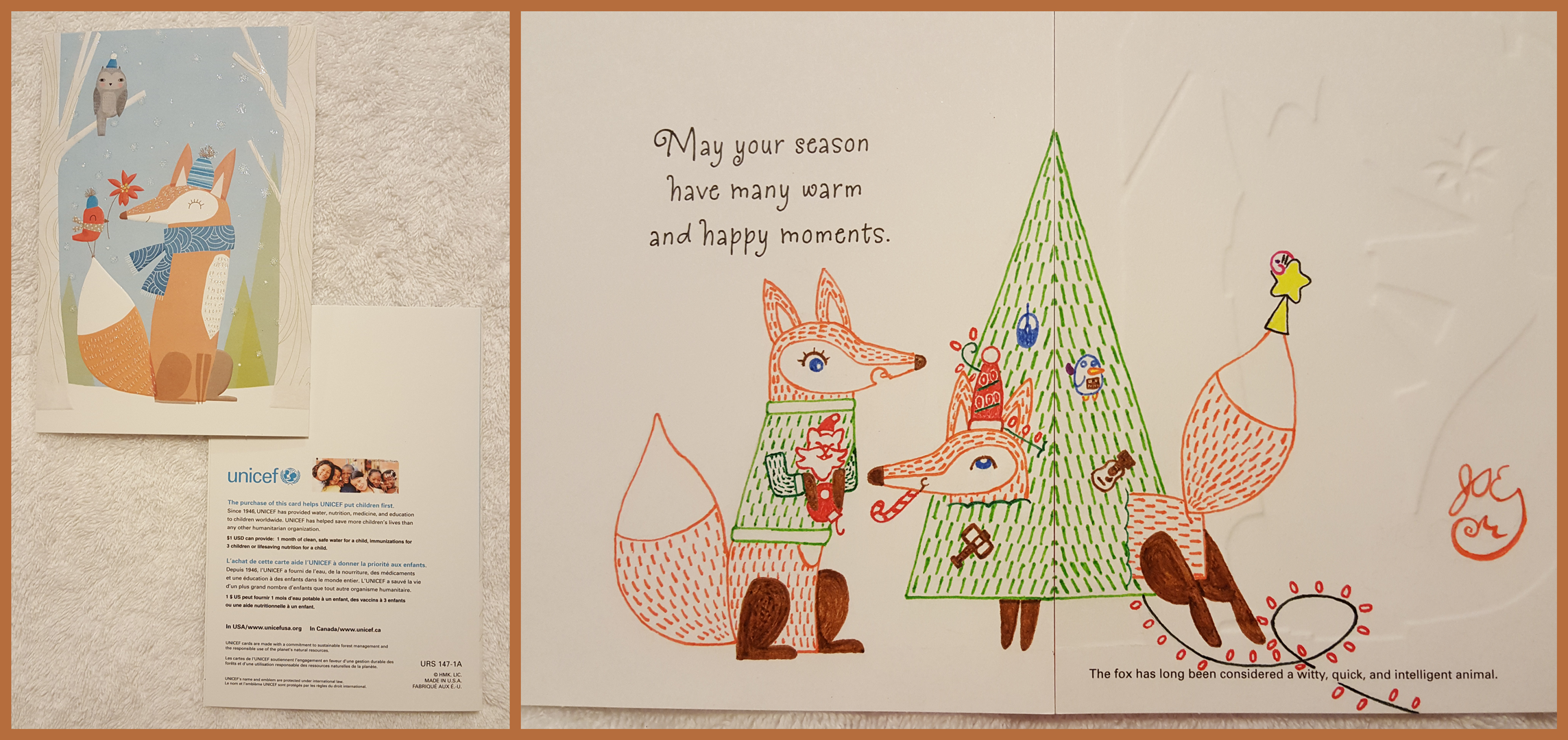 Winter Holiday Card - Fox Couple 1 - 2016