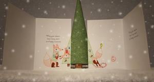 Winter Holiday Card - Fox Couple 2 - 2016