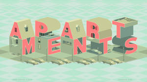 Apartments/Typography Art Vector Logo