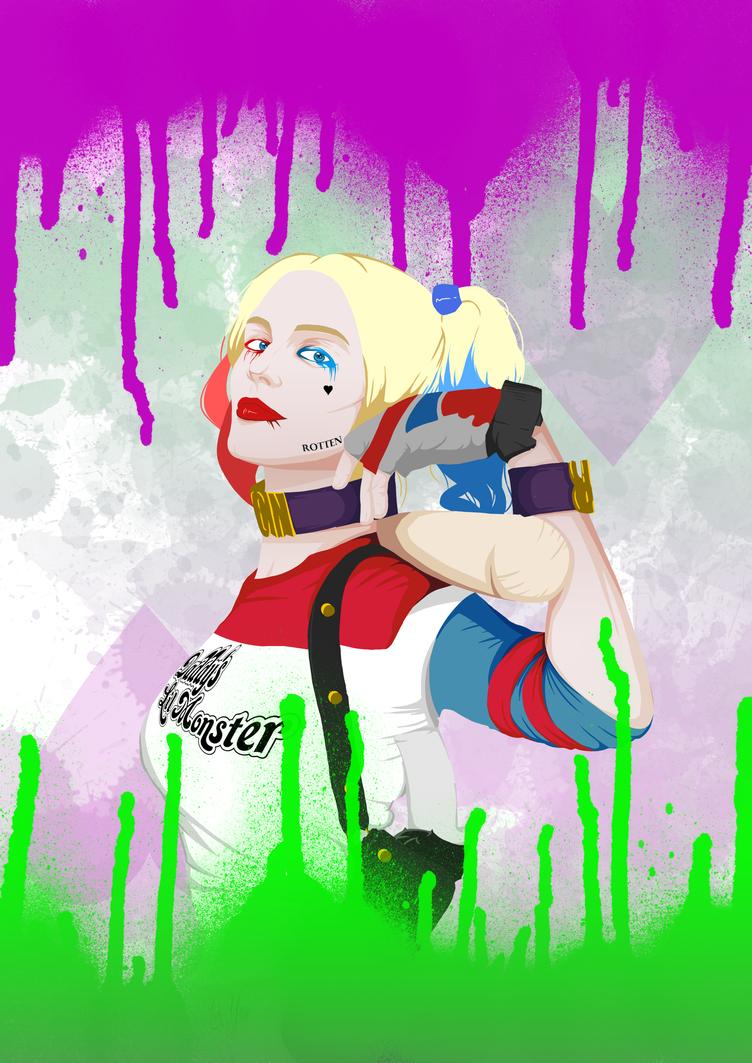 Harley Quinn Punk-Style Art by Seiruzan