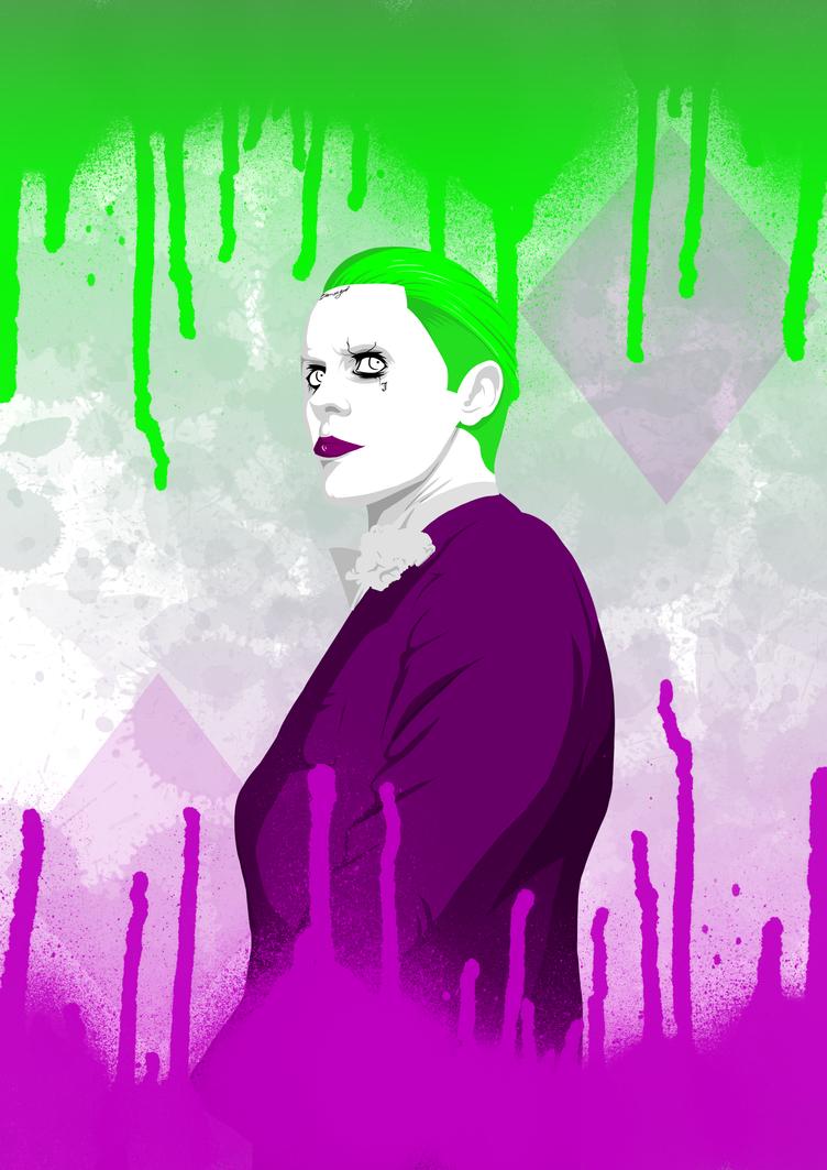 Joker Punk-Style Art by Seiruzan