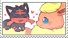 flareon + litten stamp by DestinysGrace