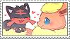 flareon + litten stamp