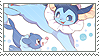 vaporeon + popplio stamp by DestinysGrace