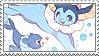 vaporeon + popplio stamp by DestinysGrace