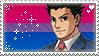 Bisexual Phoenix Wright Headcanon stamp by DestinysGrace