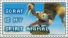Scrat ..My Spirit Animal Stamp by motomutt