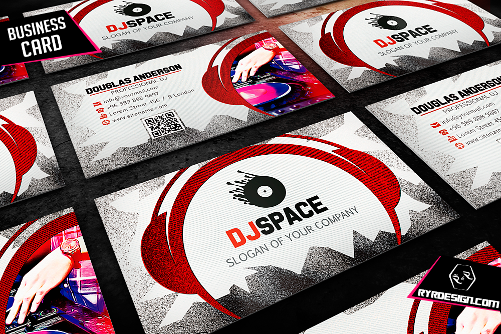 Dj Business Cards Slogans Choice Image Card Design And Card Template - Free dj business card template