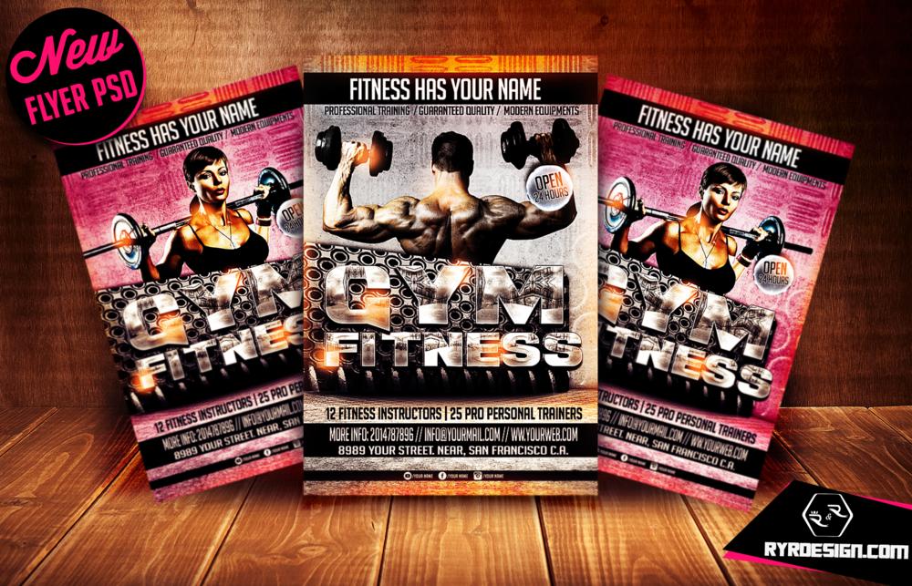 Fitness Gym Flyer Template By Ryrdesign On Deviantart