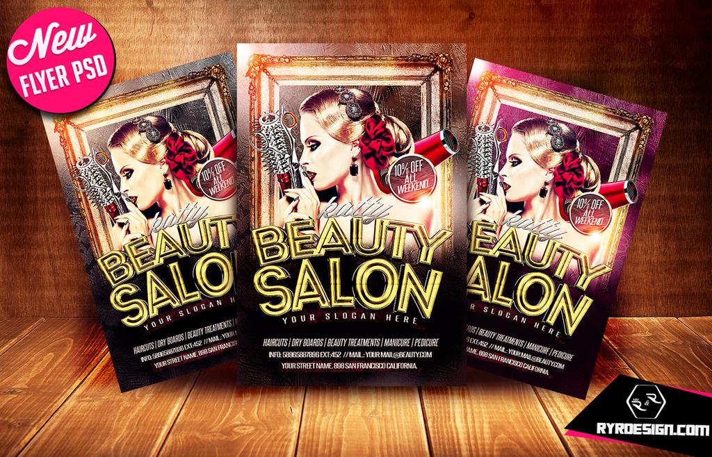 Salon Flyer Psd Solidpion