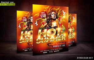 Hot Summer PSD Flyer Template by ryrdesign