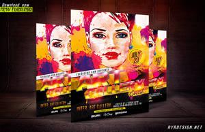Art Gallery Event PSD Flyer By RYR DESIGN by ryrdesign