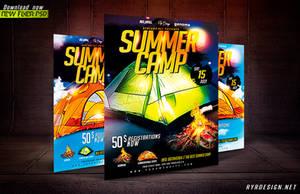 Summer Camp PSD Flyer Template by ryrdesign