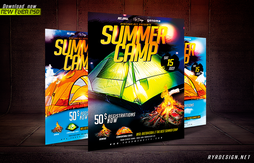 summer camp flyer psd pike productoseb co
