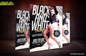 Black And White PSD Flyer by ryrdesign