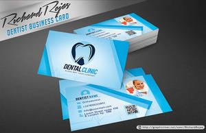 Dentist Business Card Template by ryrdesign
