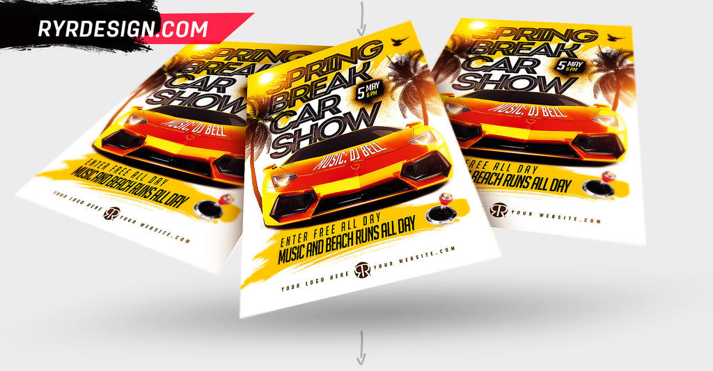Spring Break Car Show Flyer By #RYRDESIGN by ryrdesign