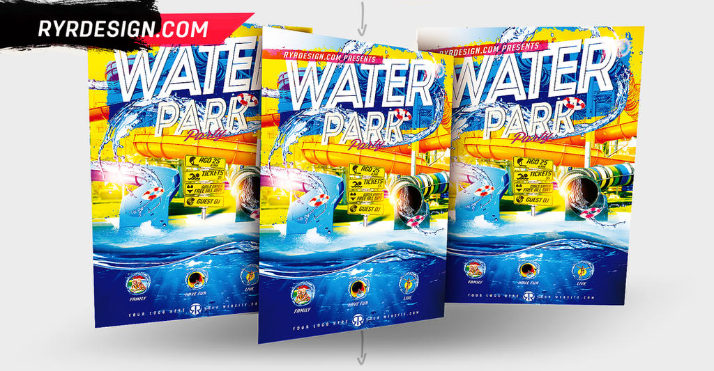Water Park Flyer PSD by ryrdesign