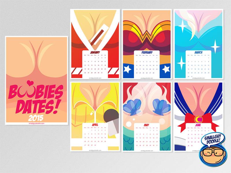 Calendar-BoobiesTraps-AD-2 by smallguydoodle