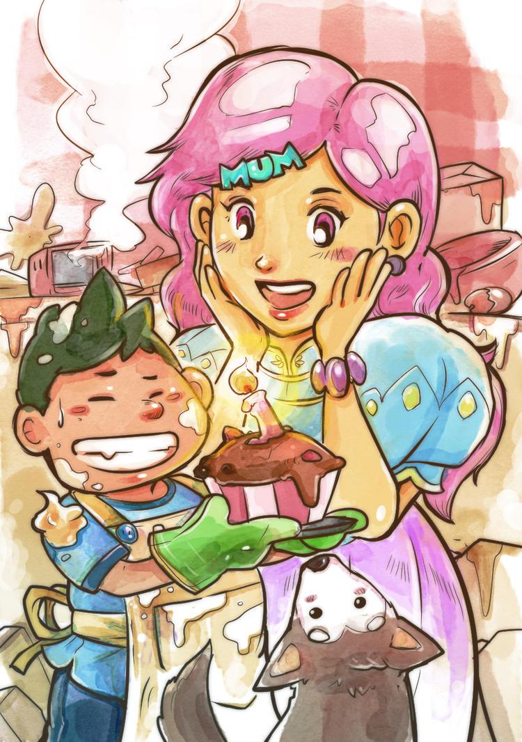Happy Birthday Mum! by smallguydoodle