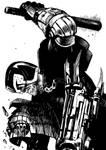 Judge Dredd line art