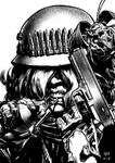 Post apocalyptic woman at arms