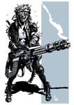 Post apocalyptic minigun girl 2