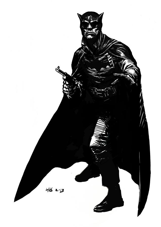 Pulp-Batman by bumhand