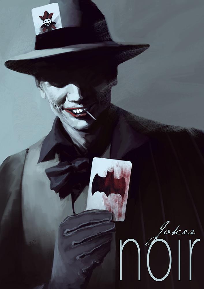 Batman Noir - The Joker by bumhand