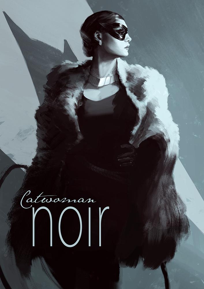 Batman Noir- Catwoman by bumhand