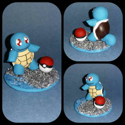 009 - Squirtle and pokeball figure  by Luan-crafts