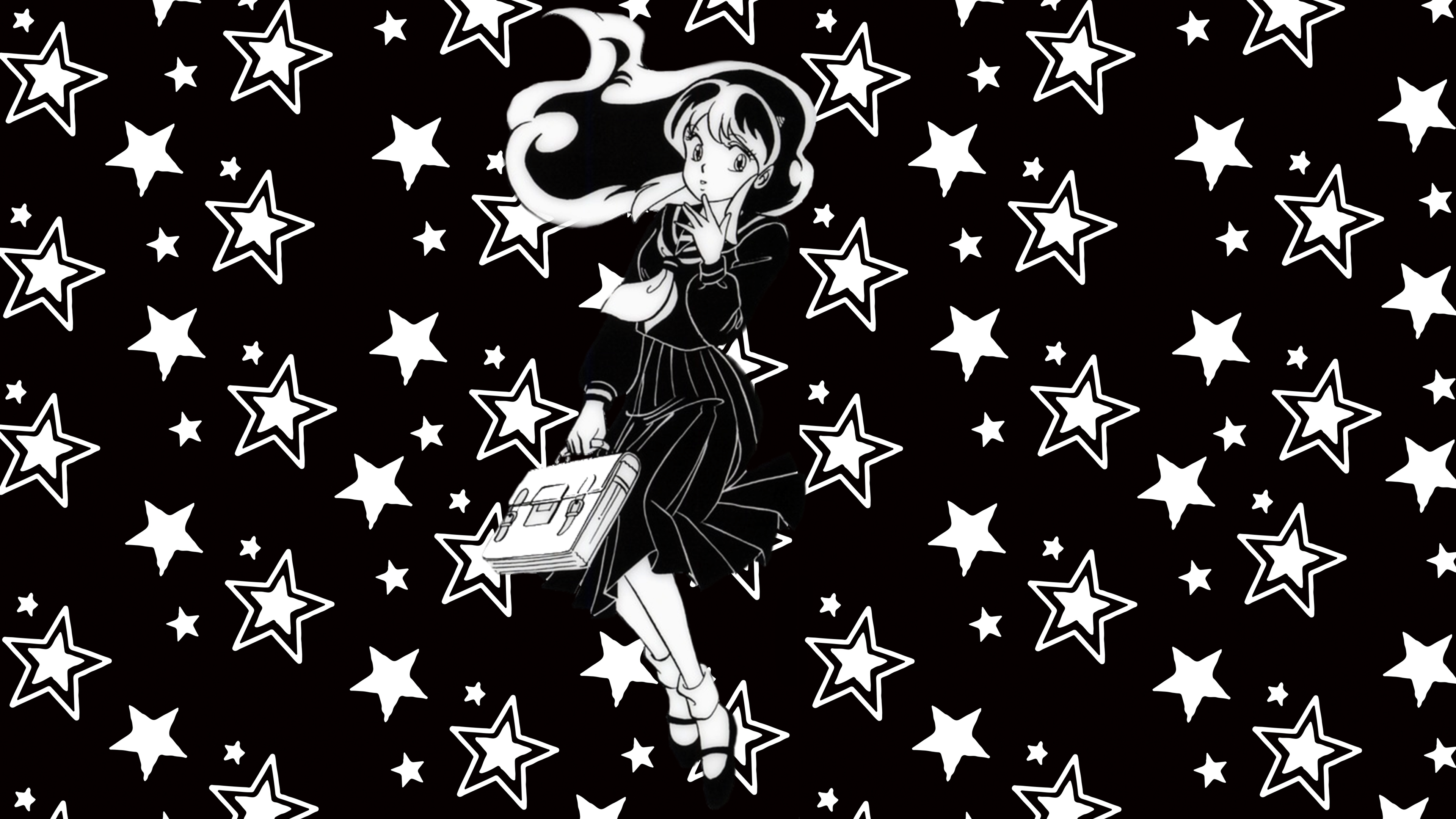 Urusei Yatsura Lum Black White Wallpaper By Uruseiyatsurax On Deviantart