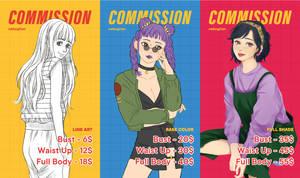 [OPEN] COMMISSION PRICE SHEET by nekogitan